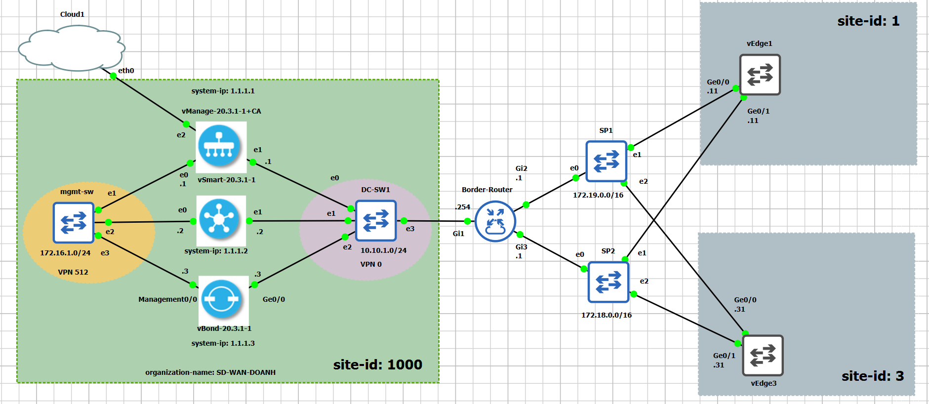Cisco Sd Wan 20 3 1 Setup In Gns3 Doanh Luong